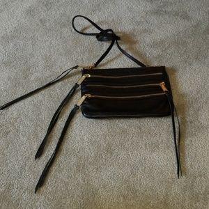 Rebecca minkoff 3 zippered black crossbody